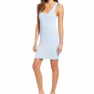 Leith bodycon midi dress celestial blue s small